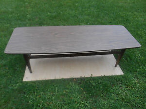 details about mid century danish modern long low surfboard coffee table w laminate top