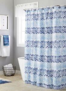 painterly pinecones fabric shower