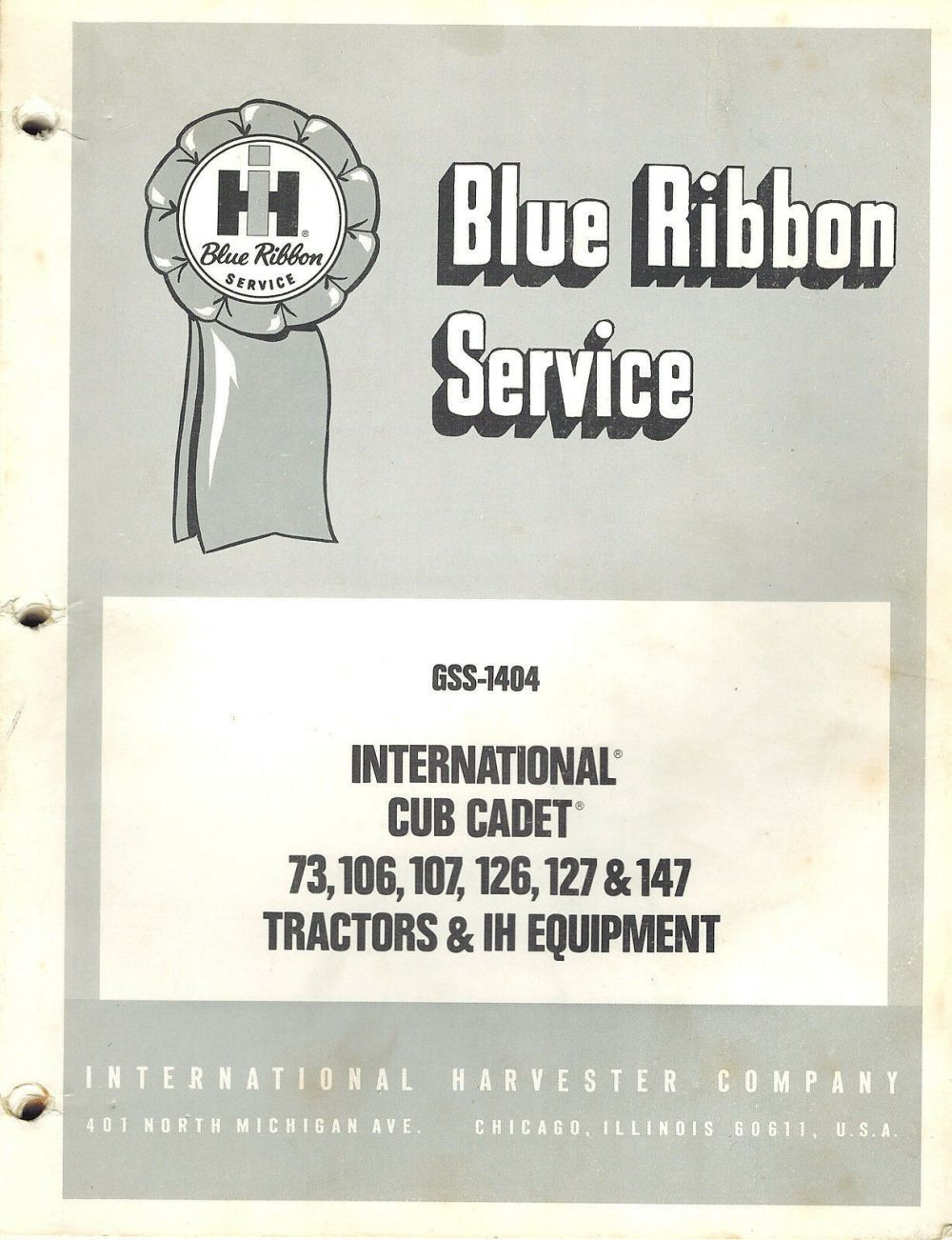 medium resolution of  of ih cub cadet d and d blue ribbon service manual uploaded by ppmurillo farmall ih genuine parts farm equipment signs implements tractors