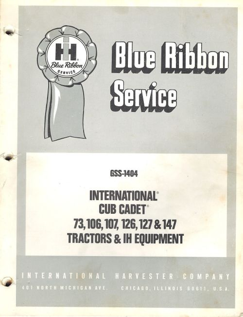small resolution of  of ih cub cadet d and d blue ribbon service manual uploaded by ppmurillo farmall ih genuine parts farm equipment signs implements tractors