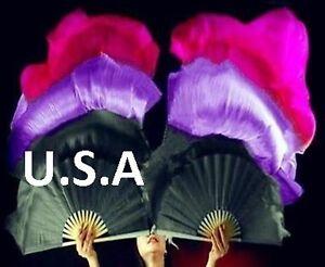Silk Fan Veils Belly Dance 100% Silk Quick Ship USA Store ...