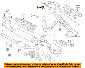 details about ford oem exhaust system catalytic converter gasket bl3z9450a