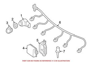 For Mercedes Genuine Parking Aid System Wiring Harness