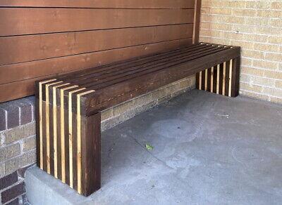 72 long bench plans only diy 2x4 wood patio garden indoor outdoor furniture 6ft ebay