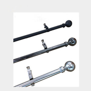 details about curtain rod pole 22 25mm wide extendable from 165cm to 320cm three colors