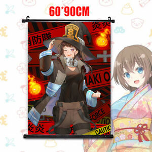 HD Poster Anime Fire Force Maki Oze Home Decor Wall Scroll Painting 60*90cm | eBay