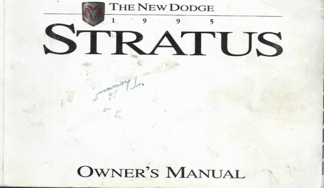 1995 Dodge Stratus 95 Owners Owner's Operator Manual Guide
