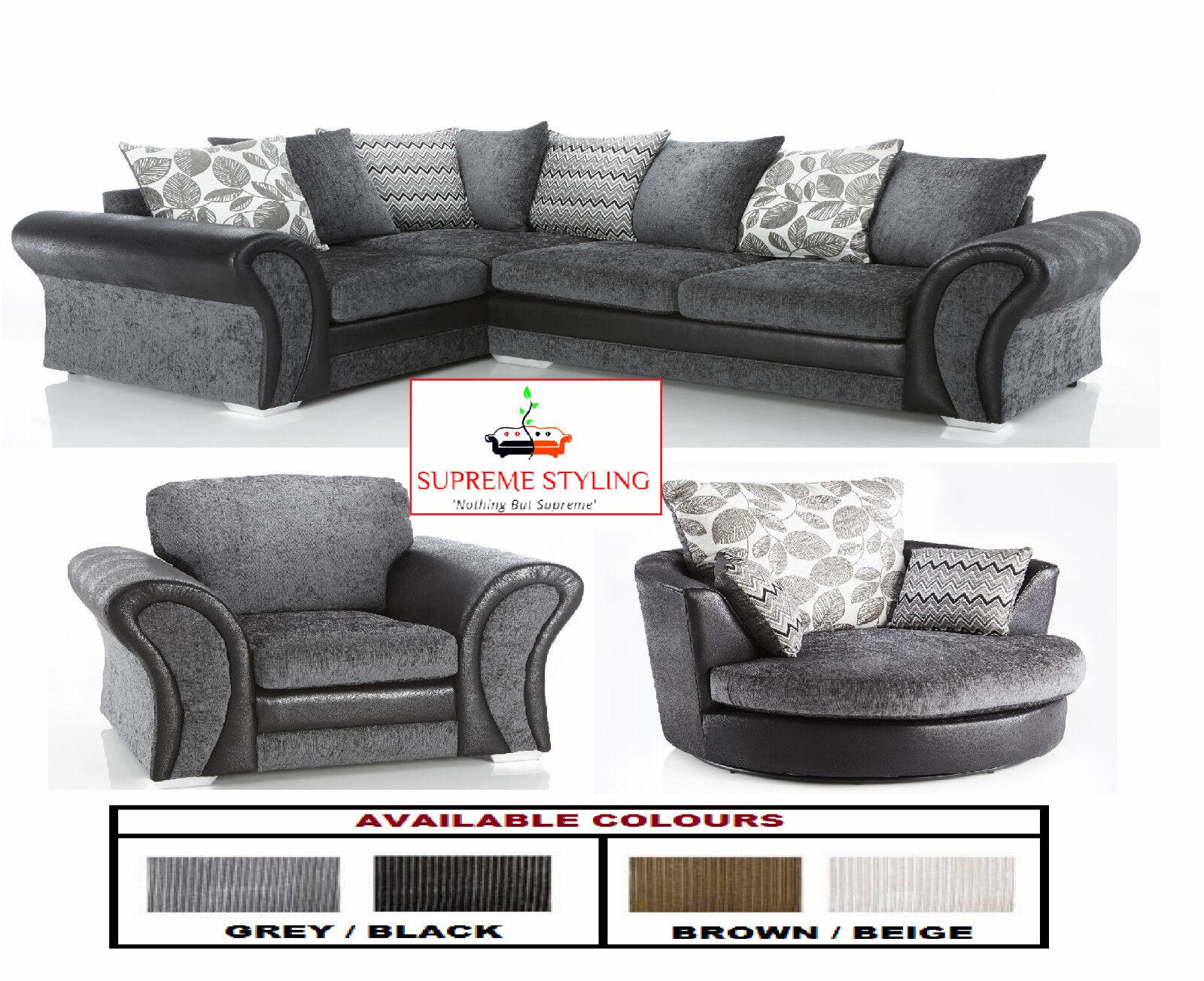 swivel cuddle chair york chairs on wheels for elderly brand new starlet corner sofa suite arm