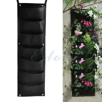 7-Pocket Outdoor Indoor Wall Balcony Herbs Vertical Garden ...