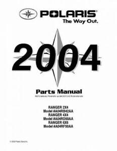 2004 Polaris RANGER Series 11 2X4 4×4 6×6 Parts Manual