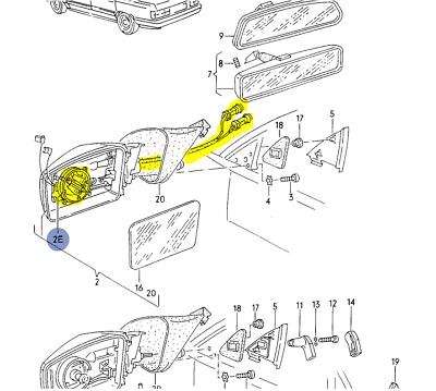 AUDI 100/200 1989-91 LEFT OR RIGHT ADJUSTMENT MOTOR FOR