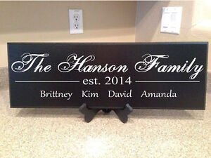 details about personalized plaques
