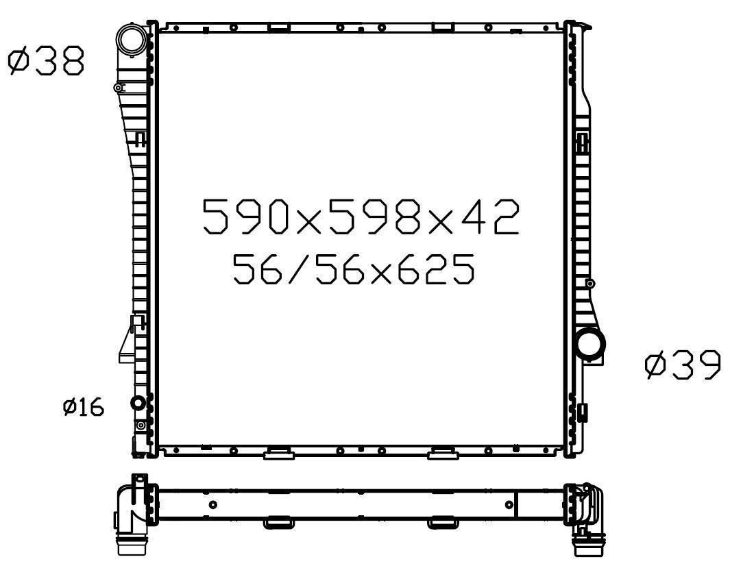 Radiator BMW X5 E53 00-07 Auto Manual 3.0i 4.4i 4.4L V8
