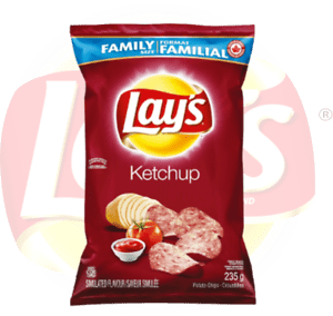 2 Bags - Canadian Lays Ketchup potato Chips Family Size (235g) 60410047514 | eBay