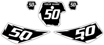 Fits KTM 50 1998-2001 Pre Printed Black Backgrounds with