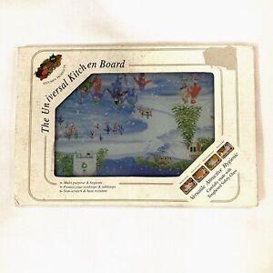 Kitchen Products The Universal Kitchen Board Glass Winter Design 12 X 8 Ebay