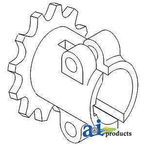 John Deere Parts SPROCKET HEADER COUPLER N104147 95,7700