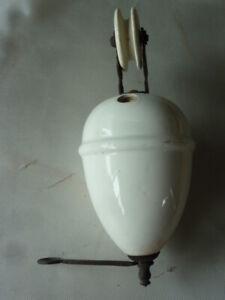 Lampadari gallery antiquariato su anticoantico. Antico Peso Pigna Con Carrucola Ceramica X Lampadari Anni 30 Ar1 Ebay