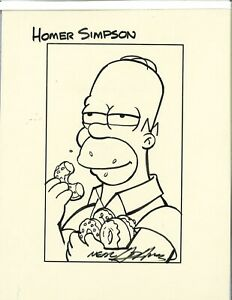Simpsons Profile Pics : simpsons, profile, Adams, Original, Simpsons, Homer, Profile, Signed, 1/2