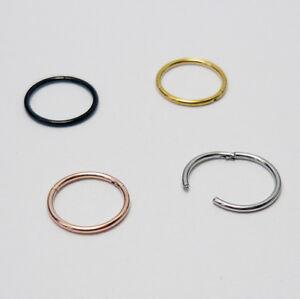 0,8 mm Nasenpiercing Segmentring Nase Ring Nose Ohr Lippen Scharnier Clicker