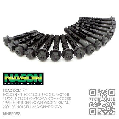 NASON HEAD BOLT KIT V6 ECOTEC 3.8L MOTOR [HOLDEN VS-VT-VU