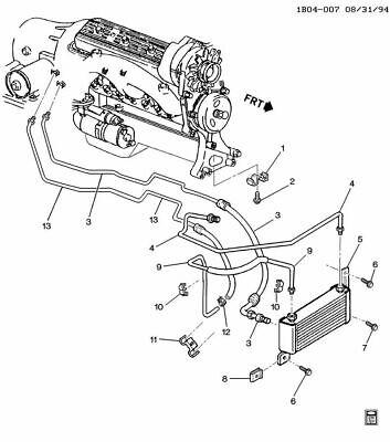 NOS OEM 1994-1996 Caprice Impala Upper Transmission Cooler