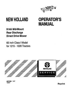 NEW HOLLAND 914A Mid Mount 60 Inch Class I Rear Discharge