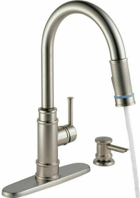 delta allentown 19935l spsd dst pull down kitchen faucet