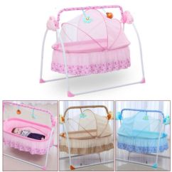 Baby Sleeping Chair Bride And Groom Signs Electric Crib Cradle Auto Rocking Newborns Bassinets 3 Of 10 Sleep Bed