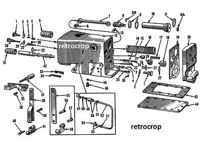 Hydraulic Touch Control Unit Block Rebuild Shop Manual IH