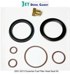 duramax fuel filter head rebuild seal kit with viton o rings with bleeder screw for sale online [ 1600 x 1509 Pixel ]