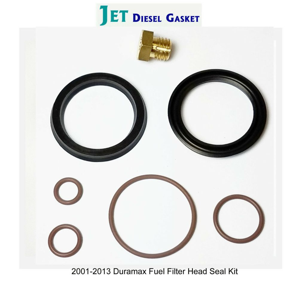 medium resolution of duramax fuel filter head rebuild seal kit with viton o rings with bleeder screw for sale online