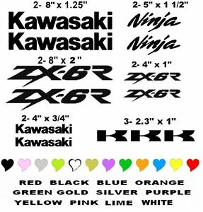 KAWASAKI ZX-6R STICKER DECAL MOTORCYCLE RACING ANY COLOR