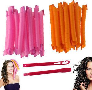 18pcs 36pcs diy long hair roller curlers magic circle twist spiral styling tools ebay