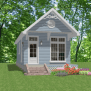 Tiny House Home Plans 1 Bed Cottage 448 Sf Pdf File Full