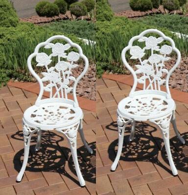vintage garden chairs french style furniture metal bistro patio cast iron set 2 ebay