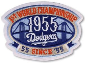 BROOKLYN DODGERS 1955 1st World Series Champions Ironon