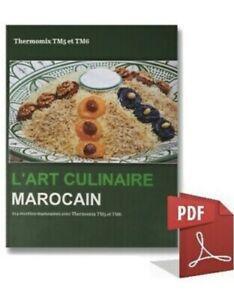 details sur livre 255 page recettes l art culinaire marocain thermomix monsieur cuisine