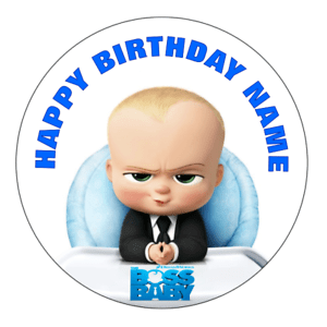 The Boss Baby Personalised Edible Party Birthday Cake Decoration