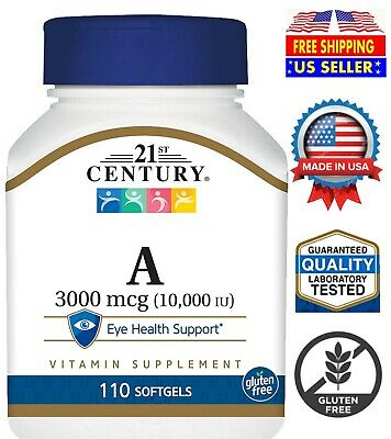 21st Century A 10.000 I.U. 110 Softgels Care Vitamin A Eye Health Vitamina A | eBay