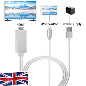 details about lighting to hdmi cable av to tv cable 1080p for ipad air iphone 5 6 7 8 x xr xs
