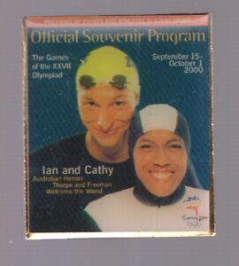 2000 Official Souvenir Program Sydney Olympic Pin Press Media Ian Cathy   eBay