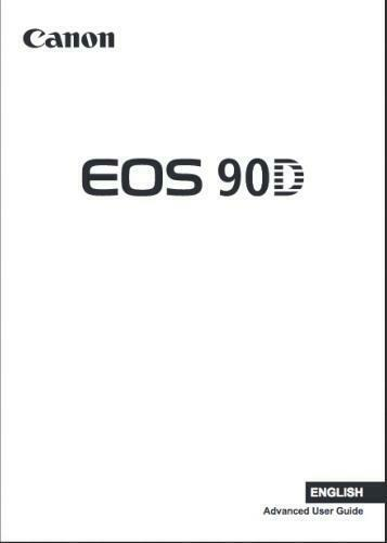Canon EOS 90D Instruction Owners Manual EOS 80D Book NEW