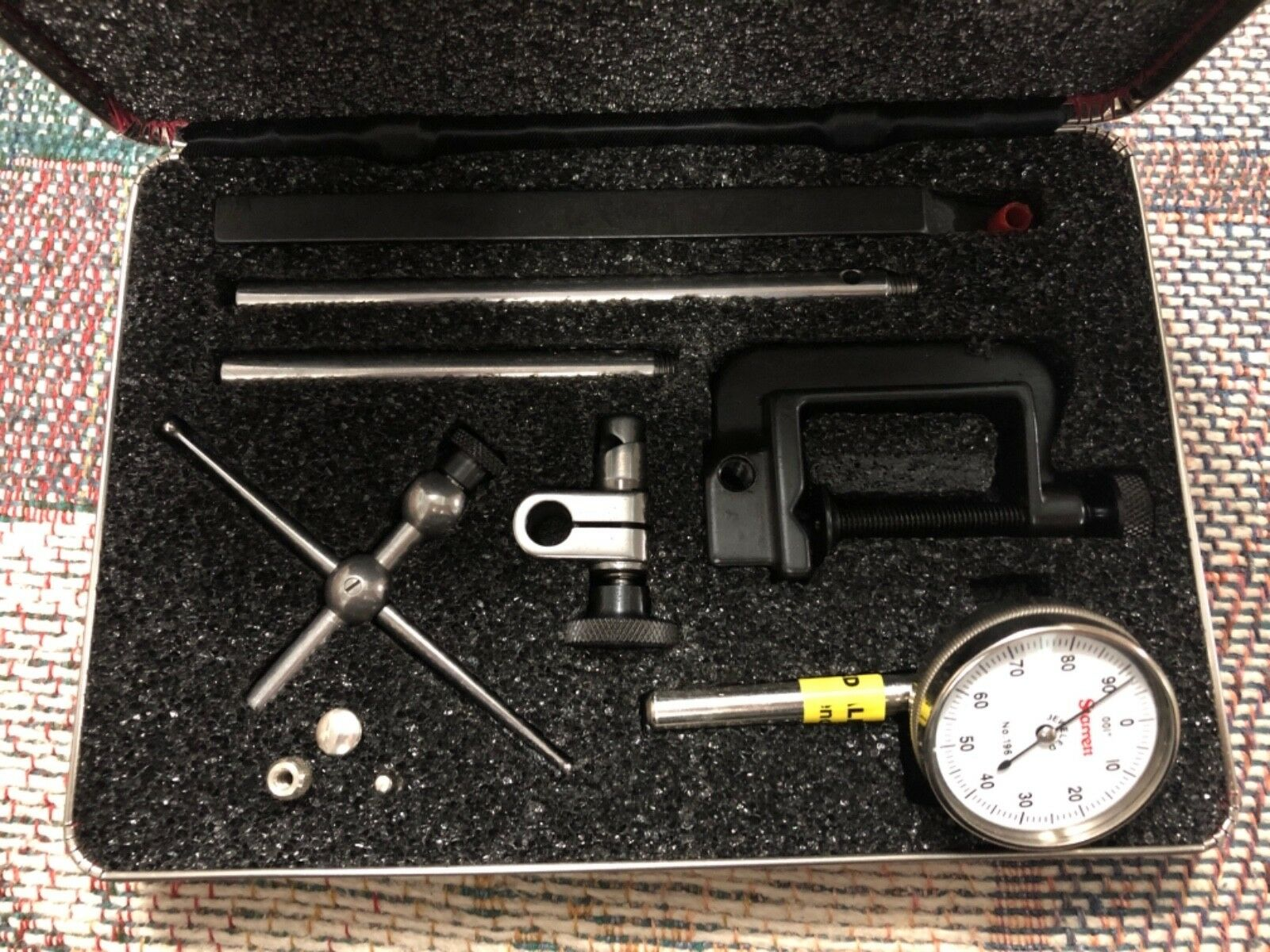 hight resolution of starrett universal dial test indicator kit nos 196 and 196m 02mm for sale online ebay