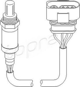 Sensor de oxígeno se ajusta Audi A4 A6 Skoda Superb VW