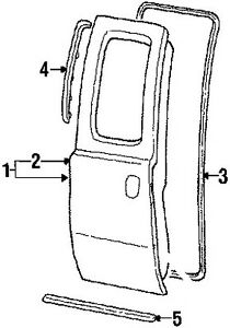 1999-2016 Ford F250 F350 Super Duty Front & Rear Door