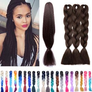 Premium 24 Jumbo Braiding Hair Ombre Kanekalon Natural African