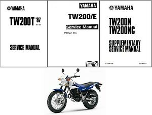 87-14 Yamaha TW200 Service Repair Workshop Manual CD