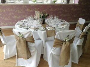 low cost chair covers steel dining table 50 packs 6 x108 burlap cover sashes bows wedding event image is loading 034