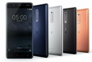 "Nokia 6 64GB TA-1003 Dual Sim (FACTORY UNLOCKED) 5.5"" 4GB RAM Blue Black Copper"